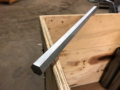 """7/8"""" 0.875"""" Thick x 18.25"""" Long 304 Stainless Steel Hex Bar"""