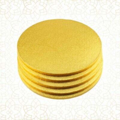 5 x Cake Drum 38 cm rund GOLD (13 mm) - Cakeboard CULPITT