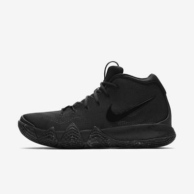 ed4c42578bf387 NIKE KYRIE IRVING IV 4 Triple Black 943806-008 Mens and GS Size 4-13 ...