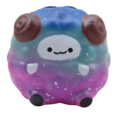 Colors Jumbo Sheep Squishies Galaxy Rainbow Slow Rising Scented Relief Toys Z