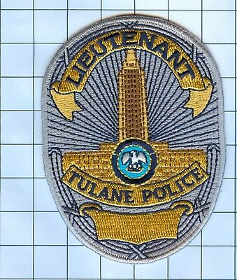 Police Patch Embroidered Mini-Patch  - Louisiana - Lieutenant Tulane