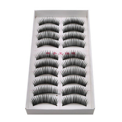 10pcs 3D Mink Natural Thick Fake Eyelashes Reusable False Eye Lashes Extension Z