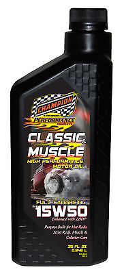 Champion Motor Oil Classic & Muscle Car Engine Oil 15W-50 Synthetic Blend