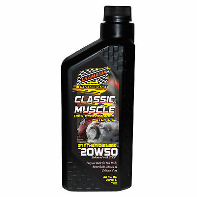 Champion Motor Oil Classic & Muscle Car Engine Oil 20W-50 Synthetic Blend