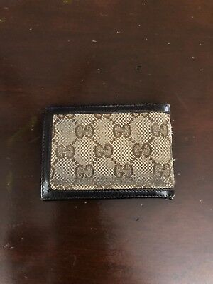 0aba0c549c9a5a AUTHENTIC USED GUCCI mens canvas wallet bifold - $33.00 | PicClick