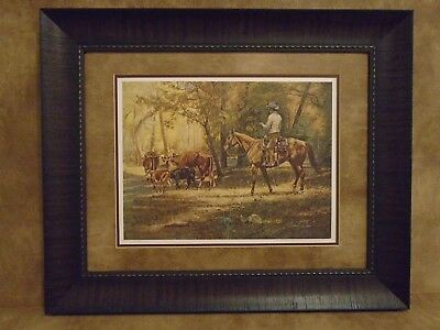 "Tim Cox Framed ""Riding The Herd"" Limited Edition 2094/2250"