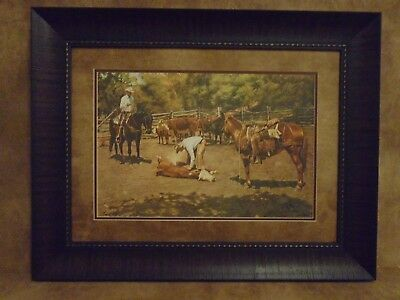 "Tim Cox Framed ""Branding The Maverick"" Limited Edition 1411/2250"