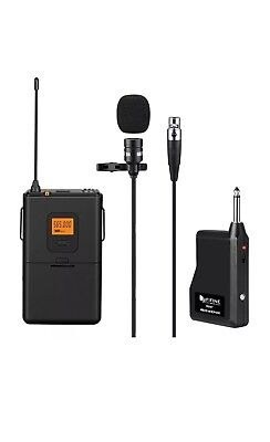 FIFINE K037 Wireless Microphone Lapel Clip Mic Voice Amplifier for Computer PC