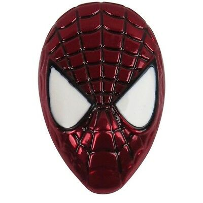 Marvel Spiderman Mask Head Colored Metal Pewter Lapel Pin New Spider-Man