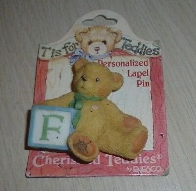 New Cherished Teddies Personalized Lapel Pin