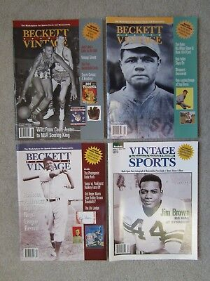 (Lot of 4) Beckett Vintage Sports magazines 1996/97