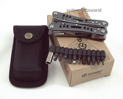 GANZO G203 24 In One Camping Hiking Survival Multitool Stainless Steel With Case