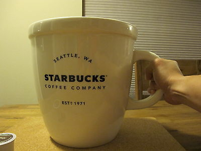 Giant Classic Large Starbucks Coffee Abbey Mug Cup 138oz Sold Out New Last One!