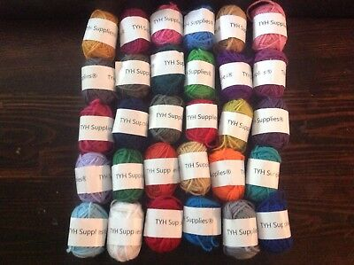 TYH Supplies 30 Skeins Bonbon Yarn Assorted Colors - 100% Acrylic New