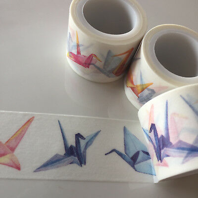 Washi Tape Wide Origami Cranes 30Mm X 5Mtrs Craft Wrap Planner Scrap Mail Art