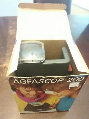 Agfascop 200 Slide Viewer for 5cm x 5cm Slides / AC powered/Made in Germany
