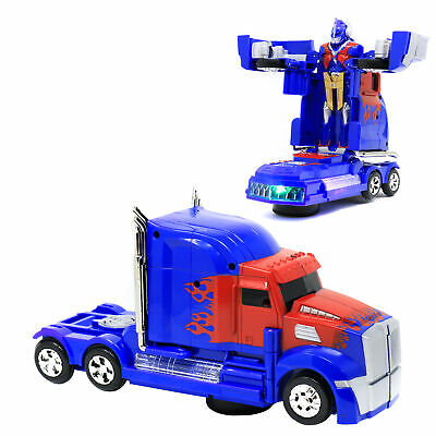 Retailery Transformers 2 in 1 Truck With Sound Effect And Light, Blue