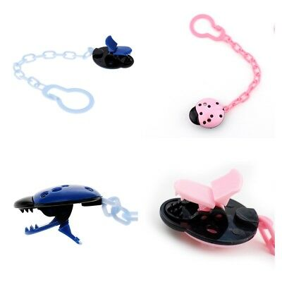 Baby Girl Boy Dummy Pacifier Chain Clip Animal Toys Nipples Holder 2PACK