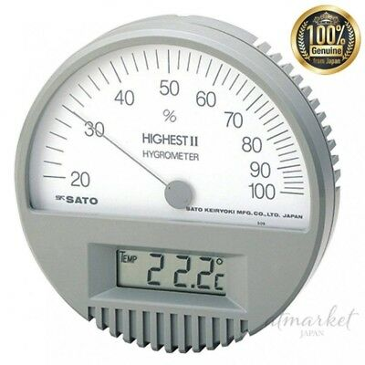NEW Sato hygrometer High-2 type hygrometer (with thermometer) genuine from JAPAN