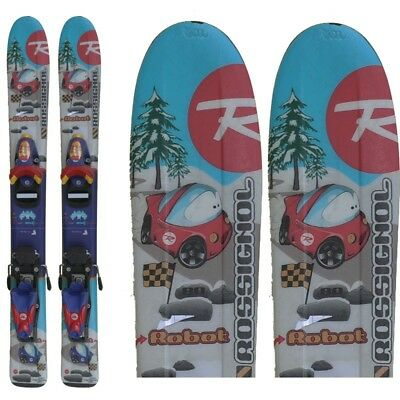 Ski occasion junior Rossignol Robot Cars + fixations