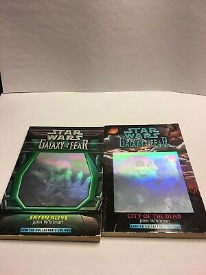 Star Wars Galaxy of Fear Book 1 and 2 by John Whitman Holographic covers Limited