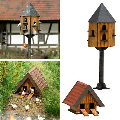 OO/HO Building accessories - Pigeon House & Duck house - Busch 1521 F1