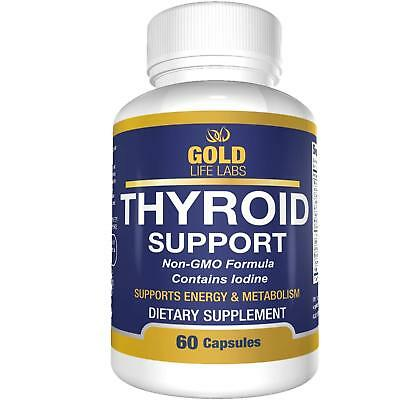Thyroid Support Supplement with Iodine - May Support Weight Loss - 60 Capsules
