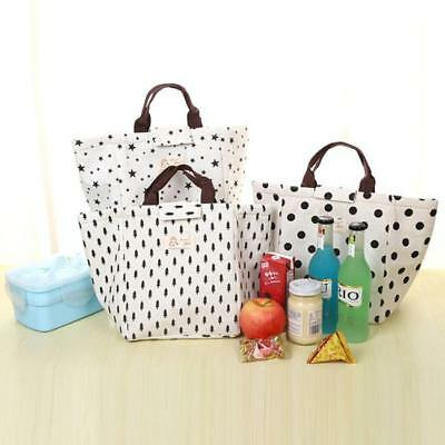 Portable Insulated Tote Picnic Storage Bag Pouch Thermal Cooler Bento Lunch Box