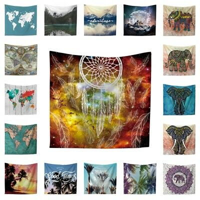 Indian Mandala Tapestry Wall Hanging Bohemian Hippie Bedspread Throw Home Decor