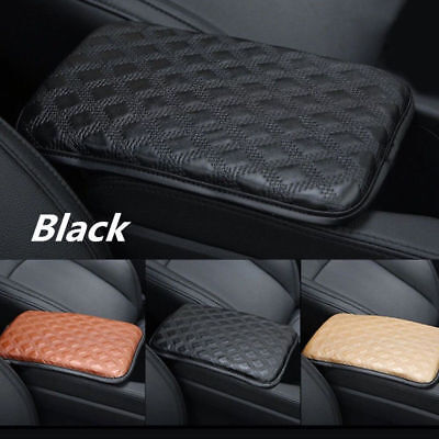 Universal Car SUV Armrest PU Leather Pad Cover Center Console Box Cushion Pad FT