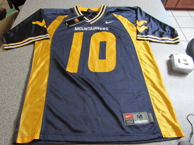 cc71804b7 New Mens Ncaa Nike West Virginia Mountaineers  10 Football Jersey Size  Medium