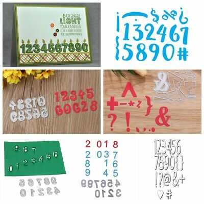 Numbers Set Metal Cutting Dies Stencils DIY Scrapbooking Photo Album Paper Cards