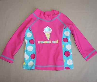 Tiny Little Wonders BABY Girls Rashie Size 0 6-12m Pink Blue  Sweet As Ice cream