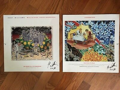 Robt Williams: MALICIOUS RESPLENDENCE; Small Book Posters; Vintage '99, Signed
