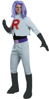 Pokemon James Team Rocket Costume Adult One Size Fits Most