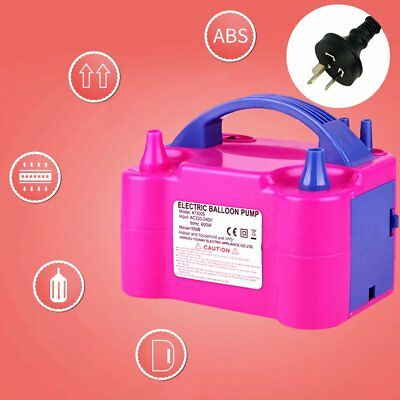 Portable Electric Balloon Pump Inflator Air Blower Two Nozzle Party Decoration