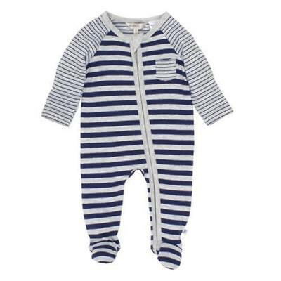Fox and Finch Giant Front Zip Stripe Romper