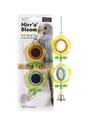 Ruff n Tumble Mirr a Bloom Bird cage toy Mirror Budgie Cockatiel Canary Gift