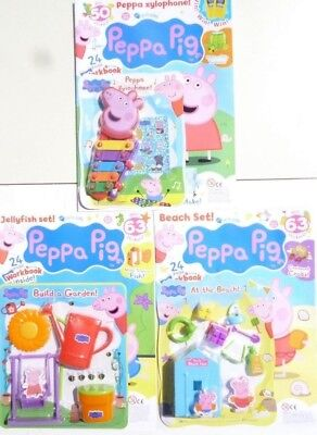 3 x PEPPA PIG MAGAZINES ~ ALL NEW WITH FREE GIFTS ~