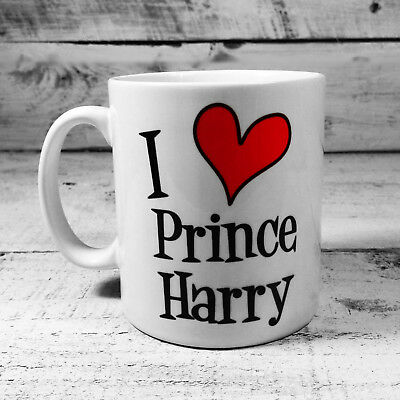 New I Love Prince Harry Gift Mug Cup Present Meghan Markle Royal Wedding Gifts