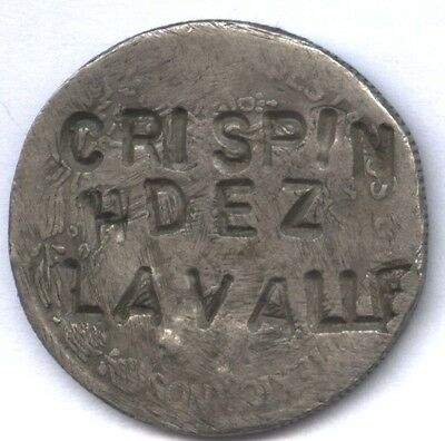 Crispin Hdez Lavalle * Feb 14, 1983 * Counterstamp On Mexican Peso ? * Usage ??