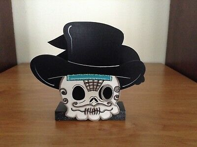 3 of 4 hp hand painted wooden halloween day of the death napkin holder day of death