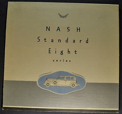 1932 Nash Standard Eight 8 Sales Brochure Folder Excellent Original 32