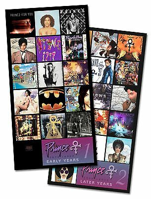PRINCE twin pack album covers magnet set (two 3 in. x 6 in. fridge magnets) RIP