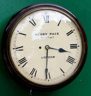 Early English Henry Pace Whitechapel London 8 Day Convex Fusee Dial Clock