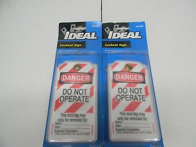 "Ideal #44-833 Lockout Tags "" Danger Do Not Operate"" (2 pks of 5)"