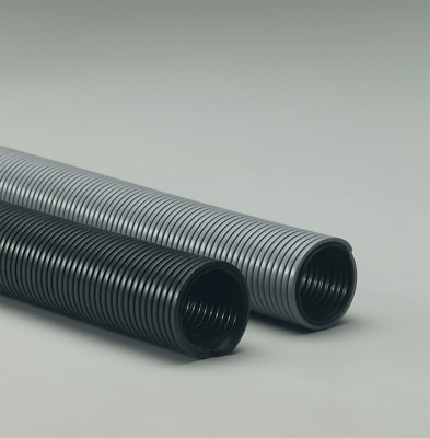 "Industrial Vacuum Cleaner Hose - 3"" x 50' Commercial Gray Polyethylene Hose"