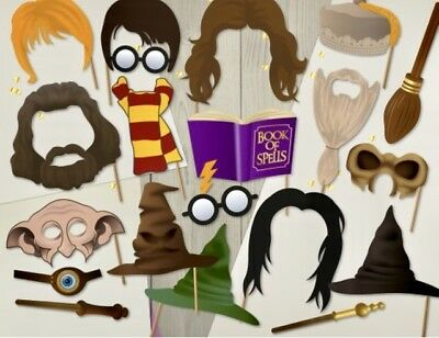 Harry Potter Themed Photo Booth Props Wizardry Spells Mythical