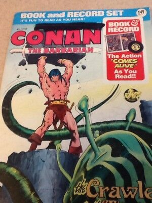 Conan the Barbarian 1976 book and record set Comic The Crawler in the Mists VFNM