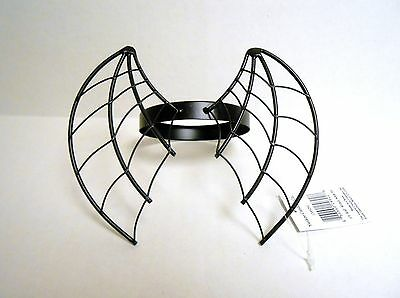 Yankee  Candle Halloween Wicked Web Webbed Bat Wing Jar Candle Topper